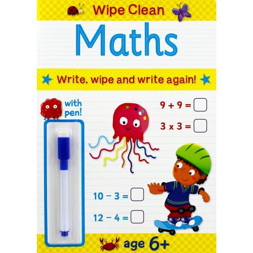 Wipe Clean Maths - Age 6 Plus